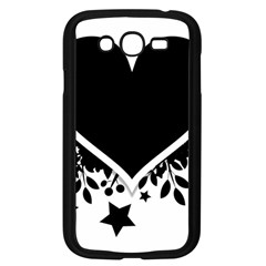 Silhouette Heart Black Design Samsung Galaxy Grand Duos I9082 Case (black)