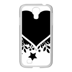 Silhouette Heart Black Design Samsung Galaxy S4 I9500/ I9505 Case (white)