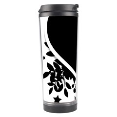 Silhouette Heart Black Design Travel Tumbler