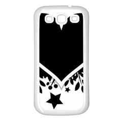 Silhouette Heart Black Design Samsung Galaxy S3 Back Case (white)