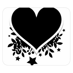 Silhouette Heart Black Design Double Sided Flano Blanket (Small)
