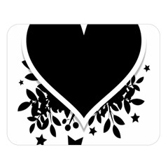 Silhouette Heart Black Design Double Sided Flano Blanket (large)