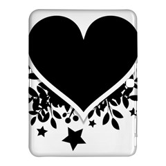 Silhouette Heart Black Design Samsung Galaxy Tab 4 (10.1 ) Hardshell Case