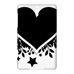 Silhouette Heart Black Design Samsung Galaxy Tab S (8.4 ) Hardshell Case