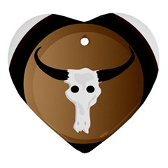 Logo The Cow Animals Ornament (heart)