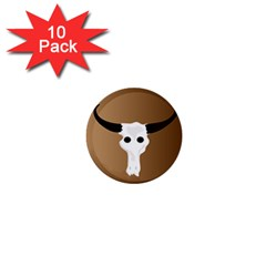Logo The Cow Animals 1  Mini Buttons (10 Pack)