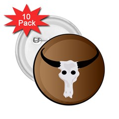 Logo The Cow Animals 2 25  Buttons (10 Pack)