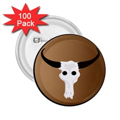 Logo The Cow Animals 2 25  Buttons (100 Pack)