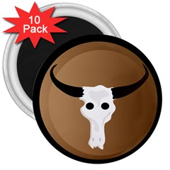 Logo The Cow Animals 3  Magnets (10 pack)
