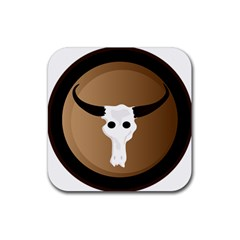 Logo The Cow Animals Rubber Square Coaster (4 pack)