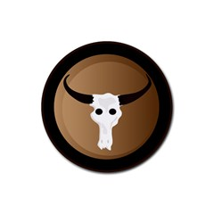 Logo The Cow Animals Rubber Round Coaster (4 Pack)