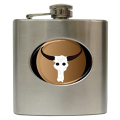 Logo The Cow Animals Hip Flask (6 Oz)