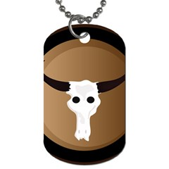 Logo The Cow Animals Dog Tag (Two Sides)