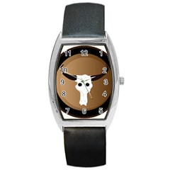 Logo The Cow Animals Barrel Style Metal Watch