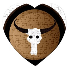 Logo The Cow Animals Jigsaw Puzzle (Heart)
