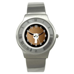 Logo The Cow Animals Stainless Steel Watch