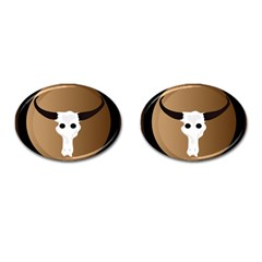 Logo The Cow Animals Cufflinks (oval)