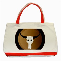 Logo The Cow Animals Classic Tote Bag (Red)