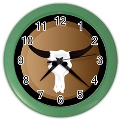 Logo The Cow Animals Color Wall Clocks