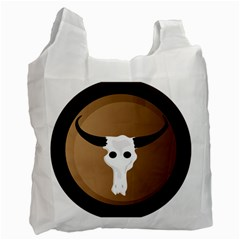 Logo The Cow Animals Recycle Bag (one Side)