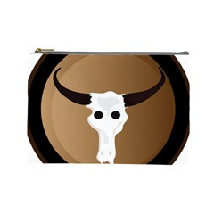 Logo The Cow Animals Cosmetic Bag (Large)