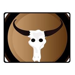 Logo The Cow Animals Fleece Blanket (Small)