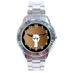 Logo The Cow Animals Stainless Steel Analogue Watch
