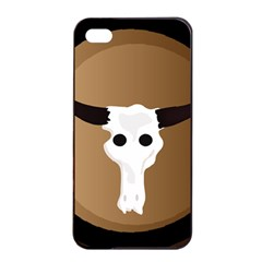 Logo The Cow Animals Apple iPhone 4/4s Seamless Case (Black)