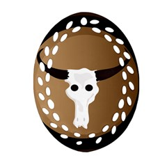Logo The Cow Animals Ornament (Oval Filigree)