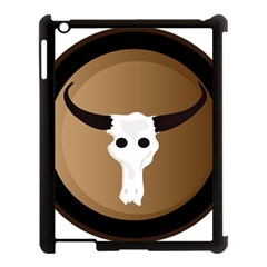 Logo The Cow Animals Apple iPad 3/4 Case (Black)