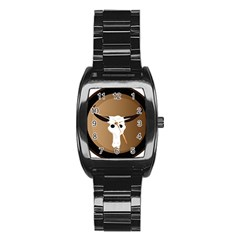 Logo The Cow Animals Stainless Steel Barrel Watch