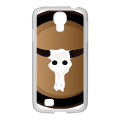 Logo The Cow Animals Samsung Galaxy S4 I9500/ I9505 Case (white)
