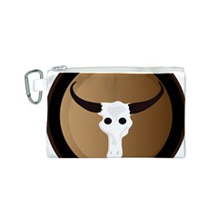 Logo The Cow Animals Canvas Cosmetic Bag (s)