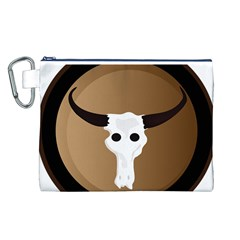 Logo The Cow Animals Canvas Cosmetic Bag (L)