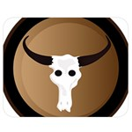 Logo The Cow Animals Double Sided Flano Blanket (Medium)  60 x50 Blanket Front