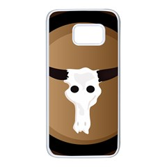 Logo The Cow Animals Samsung Galaxy S7 White Seamless Case