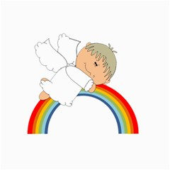 Angel Rainbow Cute Cartoon Angelic Canvas 8  x 10