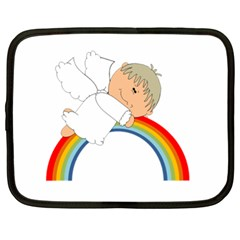 Angel Rainbow Cute Cartoon Angelic Netbook Case (XL)