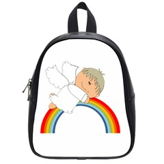 Angel Rainbow Cute Cartoon Angelic School Bags (small)