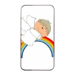 Angel Rainbow Cute Cartoon Angelic Apple Iphone 4/4s Seamless Case (black)