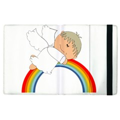 Angel Rainbow Cute Cartoon Angelic Apple Ipad 3/4 Flip Case