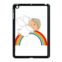Angel Rainbow Cute Cartoon Angelic Apple Ipad Mini Case (black)
