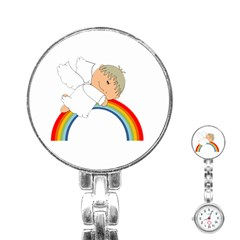 Angel Rainbow Cute Cartoon Angelic Stainless Steel Nurses Watch