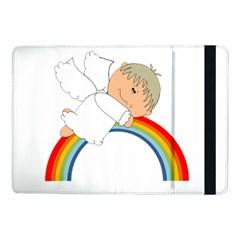 Angel Rainbow Cute Cartoon Angelic Samsung Galaxy Tab Pro 10.1  Flip Case