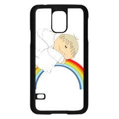 Angel Rainbow Cute Cartoon Angelic Samsung Galaxy S5 Case (black)