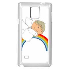 Angel Rainbow Cute Cartoon Angelic Samsung Galaxy Note 4 Case (white)