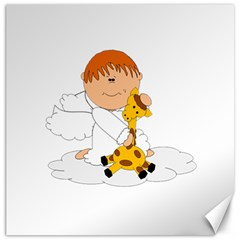 Pet Giraffe Angel Cute Boy Canvas 16  x 16