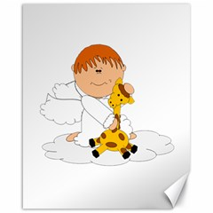 Pet Giraffe Angel Cute Boy Canvas 16  X 20