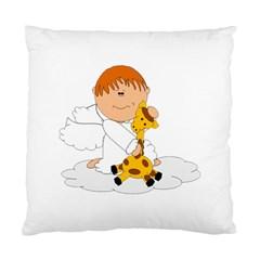 Pet Giraffe Angel Cute Boy Standard Cushion Case (two Sides)