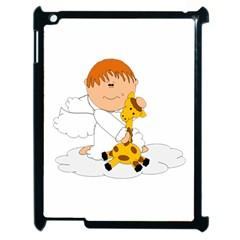 Pet Giraffe Angel Cute Boy Apple iPad 2 Case (Black)